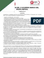 Comunicado nº9 VI Acuerdo Marco Repsol