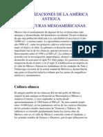 culturas mesoamericanos