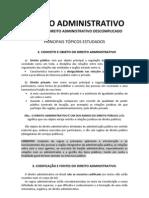 DIREITO ADMINISTRATIVO (tópicos)