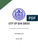 City of SD Pricelist