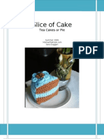 Crochet Cake Slice or Pie Pattern
