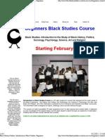 African Studies Classes