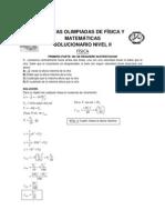 QUINTAS OLIMPIADAS DE FÍSICA Y MATEMÁTICAS SOLUCIONARIO NIVEL II