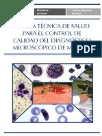 Norma Tec. Para El Control de Calidad Micros Cop. El Diag. de Malaria 2011