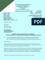 Linda Stock Notice Letter 09-22-11