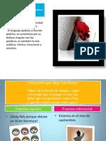 Intención comunicativa y función poética