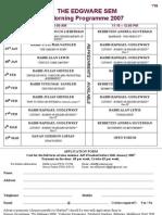 SEM Programme 2007 and Application Form