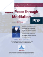 Inner Peace Through Mediation Flyer