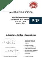 10 Metabolismo lipidico y lipoproteínas clase 10