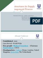 Unilever Suppy Chain Procecess
