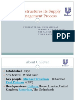 Unilever Suppy Chain Procecess