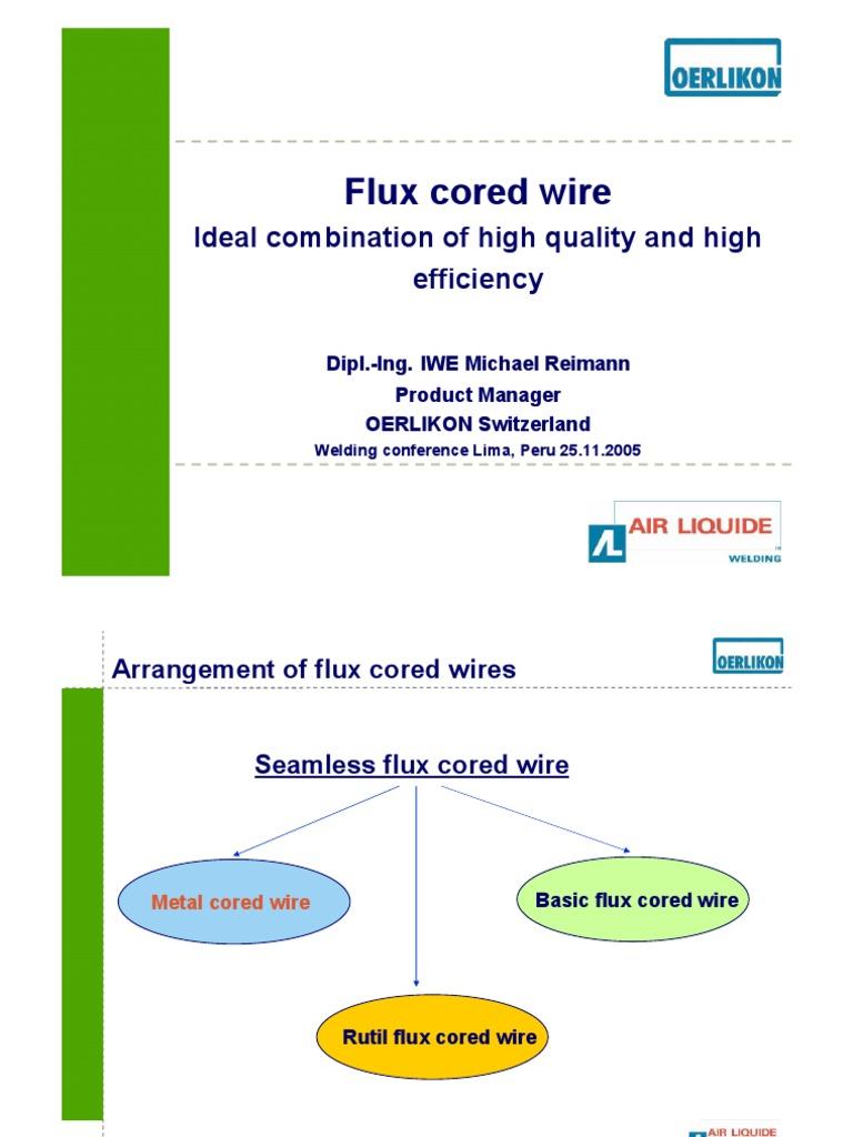 Flux Cored   Welding   Chemistry
