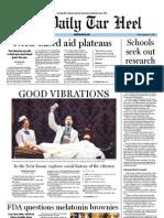 The Daily Tar Heel for September 23, 2011