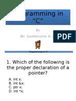 QUIZ Programming in C
