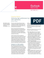 Achieving High Performance by Transforming Sales Operations
