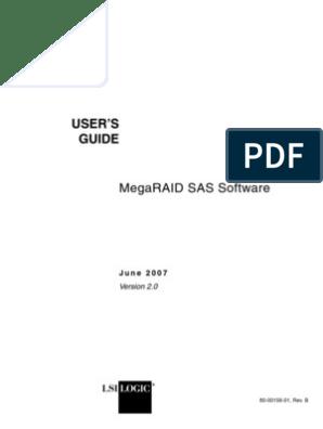 Manual Lsimegaraid860 0488 001 | Fault Tolerance | Computer
