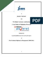 53149074 Report on Powerlcccc Mahindra