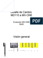 Corte MD110 a MX-ONE