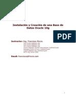 Instalacion y Creacion de Una Base de Datos Oracle 10g