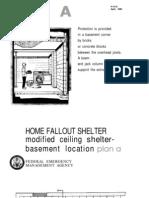 FEMA Home Fallout Shelter (Plan a) H-12-A WW