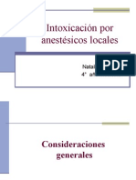 Seminario Intoxicación Por Anestésicos Locales