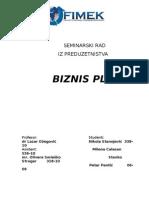 Seminarski Preduzetništvo-Biznis Plan