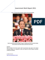 Chinese Government Work Report 2011