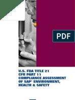 SAP - EH&S USFDA