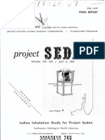 Project SEDAN - Iodine Inhalation Study - US AEC (1964) WW