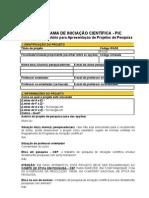 PIC - F1 - Formulário Para Apresentação de Projetos - 2008