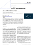 Seeing the Invisible Laser Markings