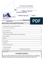 SPI Funds Transfer Request FORM