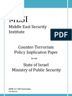 Terrorism Policy Report