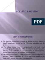 Laws of Rolling Friction1