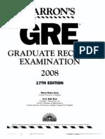 17th Edition GRE Book