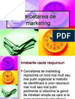 Cercetarea de Marketing