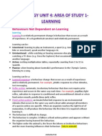 Psychology Unit 4 Area of Study 1learning