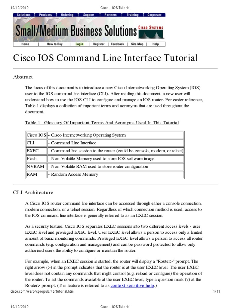 IOS Tutorial | Command Line Interface | Booting