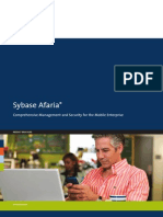 Afaria Comprehensive Management and Security for the Mobile Enterprise
