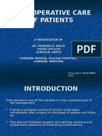 Post Operative Care of Patients