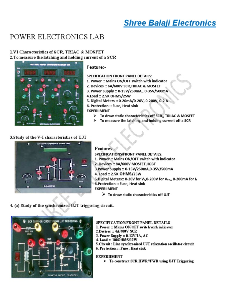 Power Electronics Lab Manual Inverter Mains Electricity Switches The Load Current And A Latching Circuit That Controls