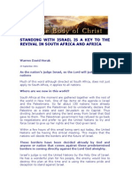 Standing With Israel is a Key to the Revival in South Africa and Africa - by Warren David Horak