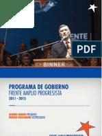Programa de Gobierno 2011-15 del Frente Amplio Progresista