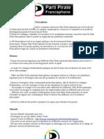 Charte du PP Francophone