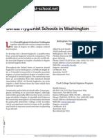 Dental Hygienist Schools in Washington