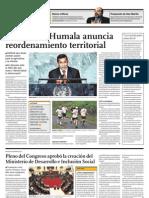 Presidente Humala Anuncia to Territorial