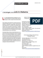 Paralegal Schools in Alabama