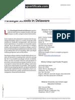 Paralegal Schools in Delaware
