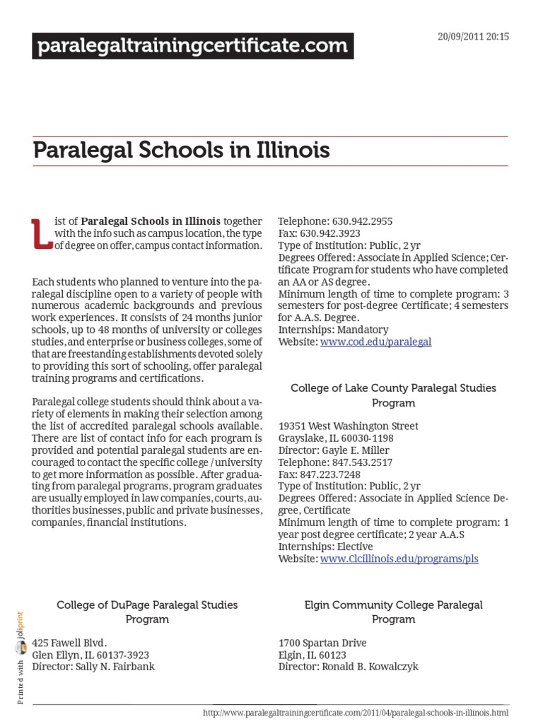 Paralegal Schools In Illinois Paralegal Associate Degree