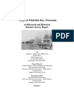 Village of Whitefish Bay Architectural & Historical Intensive Survey Report